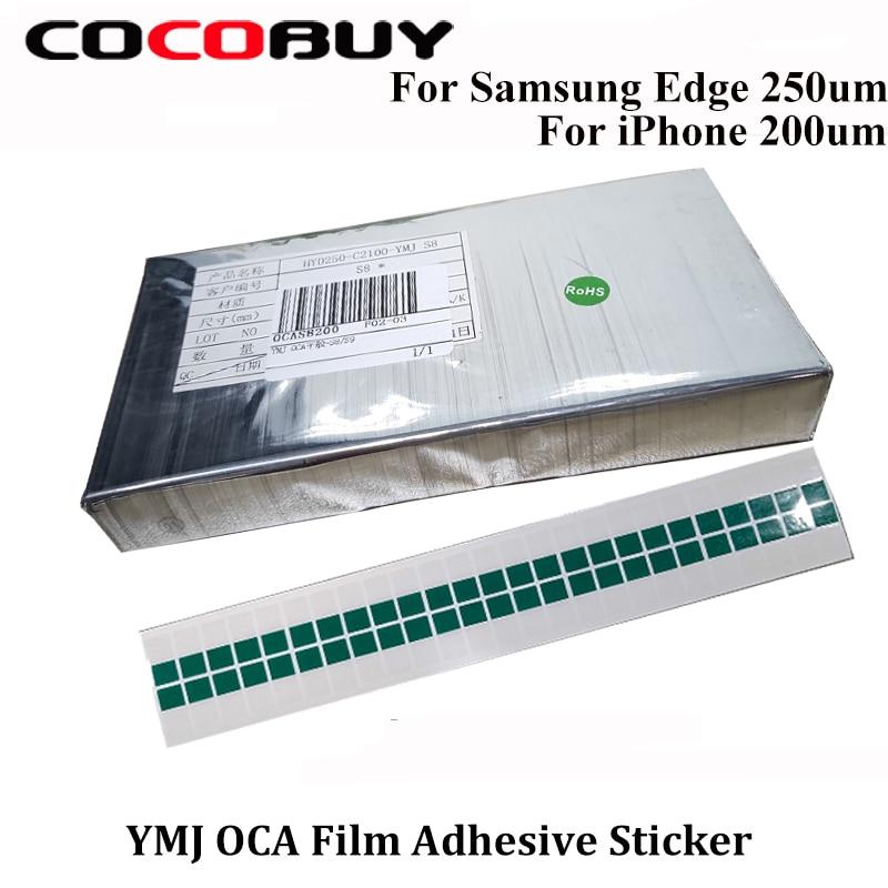 Adesivo para Iphone Lente de Vidro Novecel Lote Ymj Filme Cola Oca Optical Limpar Samsung Borda Note8 9 s8 Lcd Touch 50 Pçs –