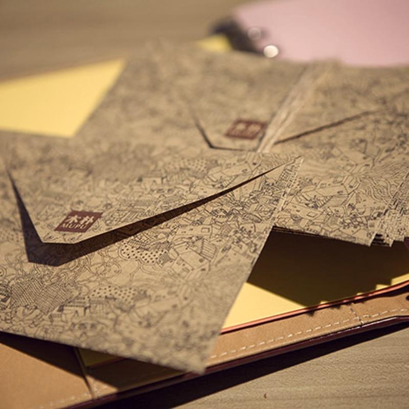 10 Pcs/lot Kraft Paper Envelop Vintge Business Card European Style Gift Envelopes High Quality Wholesale Supply Stationery