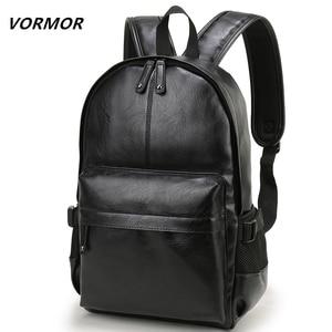 VORMOR Brand Men Backpack Leat