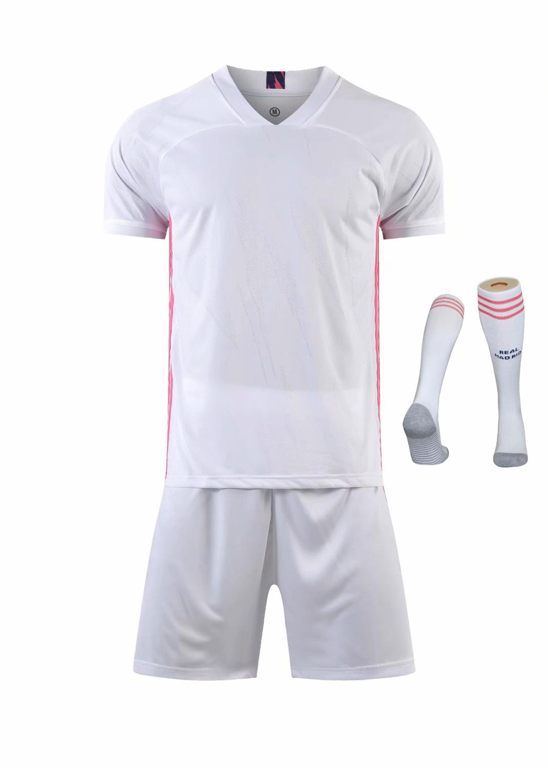 Children Sets football uniforms boys and girls sports kids youth training suits blank custom print soccer set with socks 8