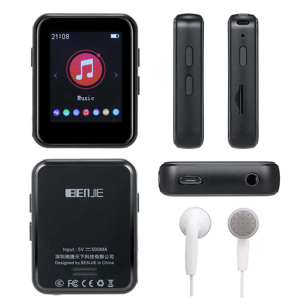 BENJIE X1 4 ГБ 8 ГБ MP3-плеер 2,0 дюйма полный сенсорный экран музыкальный плеер Портативный Bluetooth 5,0 fm-радио приемник с наушниками