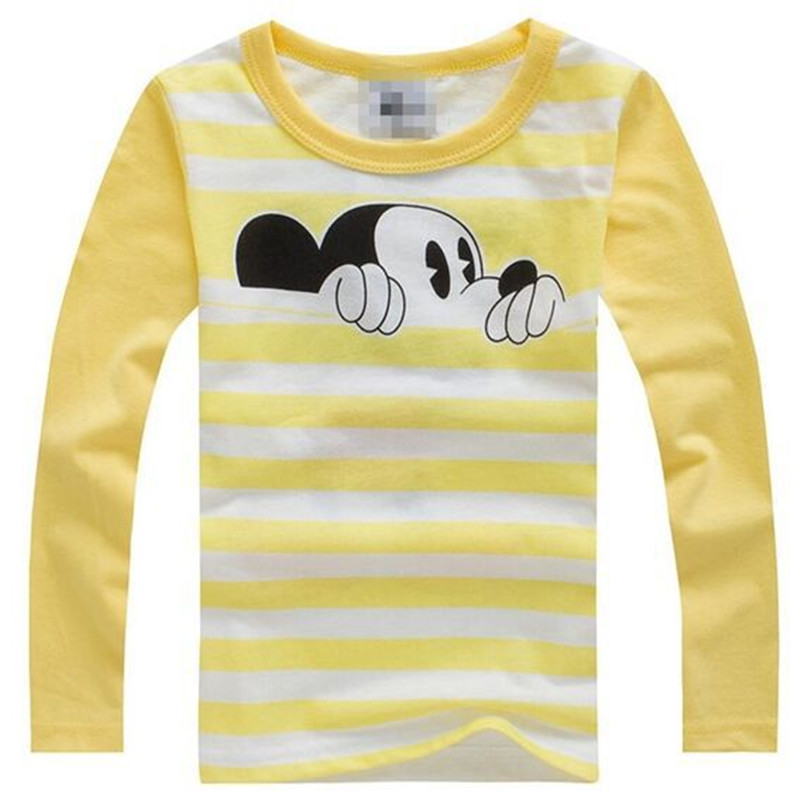 Children Boys Tshirt Long Sleeve For Kids Girls Mickey T-Shirt Kid Tops Tee Cartoon Mickey 3D Funny Tee Tops Clothes