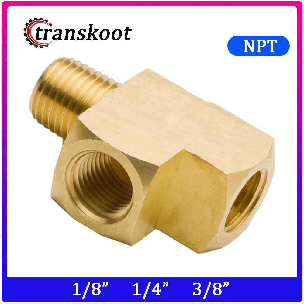 3750 SAE 130424 1/8 1/4 3/8 Metals Brass Pipe Fitting,Male Run Tee, Barstock Street Tee,Male Pipe X Female Pipe
