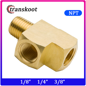 3750 SAE 130424 1/8 1/4 3/8 Metals Brass Pipe Fitting,Male Run Tee, Barstock Street Tee,Male Pipe x Female Pipe
