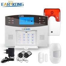 홈 보안 GSM 경보 시스템 유선 및 무선 433MHz 감지기 알람 영어 러시아어 스페인어 프랑스어 이탈리아어 음성 센서 알람
