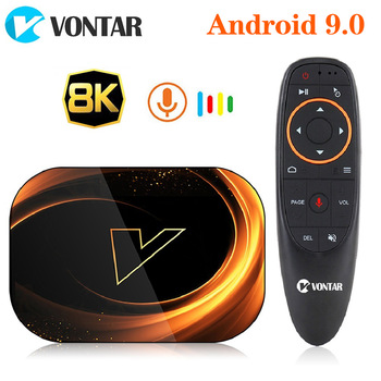 2020 VONTAR X3 4GB 128GB 8K TV BOX Android 9 Smart Android TVBOX 9.0 Amlogic S905X3 Wifi 1080P 4K décodeur 4GB 64GB 32GB 1