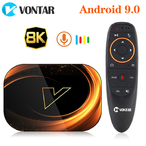 2020 VONTAR X3 4GB 128GB 8K TV BOX Android 9 Smart Android TVBOX 9.0 Amlogic S905X3 Wifi 1080P 4K Set Top Box 4GB 64GB 32GB