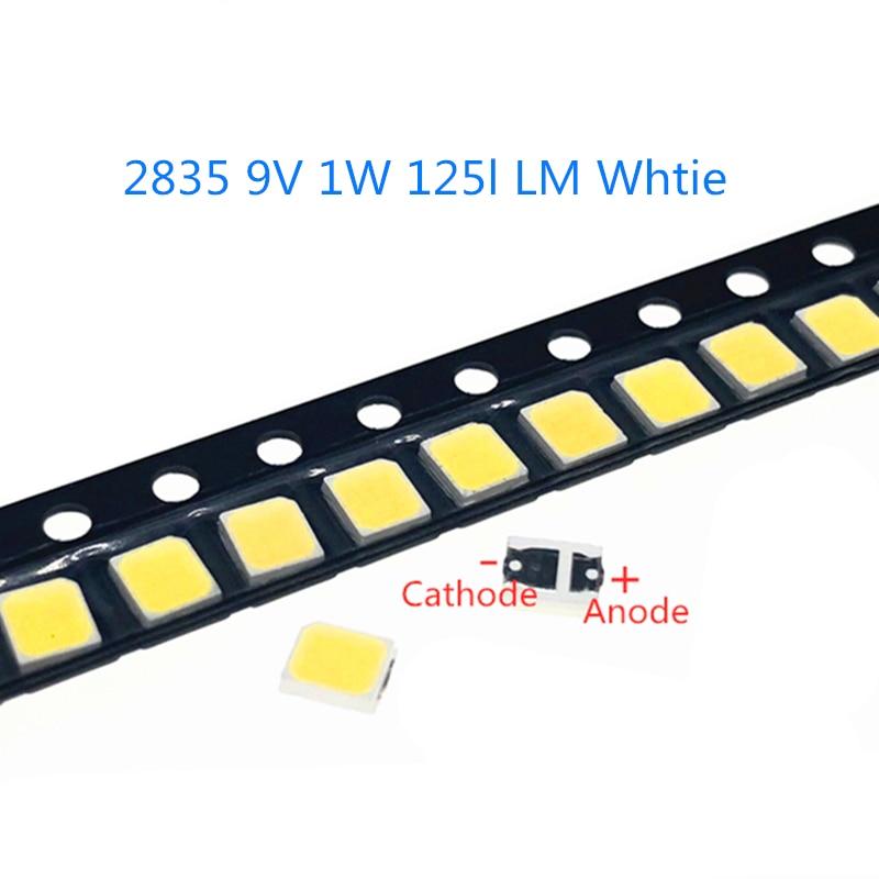 50-1000pcs/lot High Brightness 2835 125Lm SMD LED Chip 1W 9V Warm Cold White LED Surface Mount PCB Light Emitting Diode Lamp