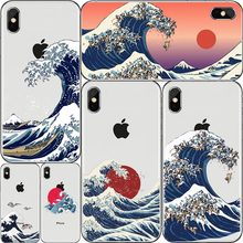 The Great Wave off Kanagawa Back Cover Soft Phone Case Fundas For iPhone 7Plus 7 6Plus 6 6S 5S 8 8Plus X XS Max Japones sea Cove(China)