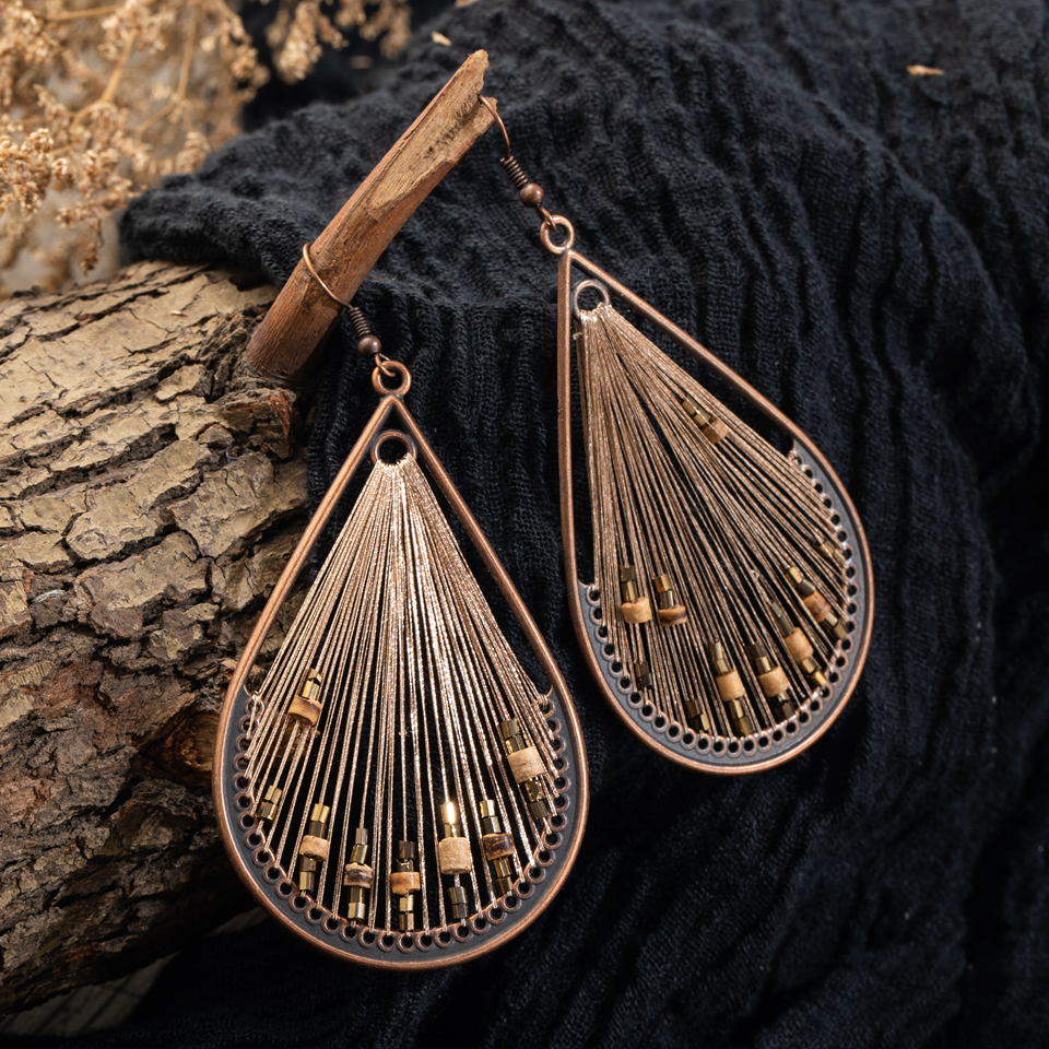AntIque Vintage Boho String Big Dangle Drop Earrings For Women New Fashion Earrings 2019 Female Party Jewelry Accessories Gifts