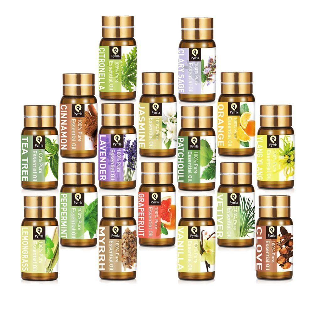 Pyrrla 5ML Pure Essential Oil Massage Humidifier Tea Tree Orange Peppermint Eucalyptus Lemongrass Lavender Aromatherapy Oil(China)