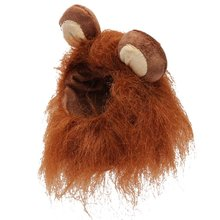 14-20cm Pet Dog Cat Artificial Lions Mane Wig Halloween Christmas Clothes Fancy Dress with Ears Pet Clothes(China)