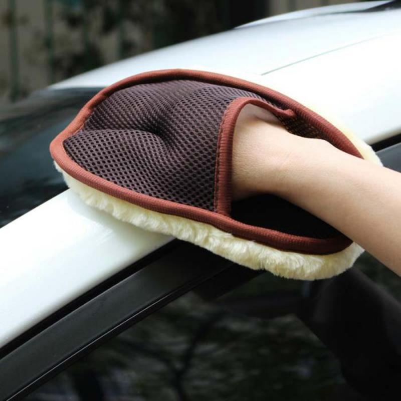 3 Colors Auto Styling Wool Soft Car Washing Gloves Cleaning Brush  Motorcycle Washer Care Products Car Cleaning Accessories