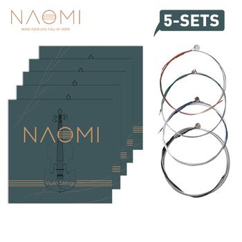 5 zestawów Naomi komplet struna do skrzypiec Fiddle String wymiana struny G D A amp E 4 4 3 4 1 2 1 4 1 8 struna do skrzypiec s tanie i dobre opinie Skrzypce użytkowania VT0908-050