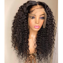 100%Human-Hair-Wigs Silk Indian Simbeauty Full Lace Hair-180density Natural-Curly Pre-Plucked