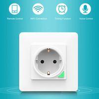 Y5GD inteligente toma wi-fi pared inteligente Control remoto 16A enchufe de pared manos libres, Control de voz calendario ajuste
