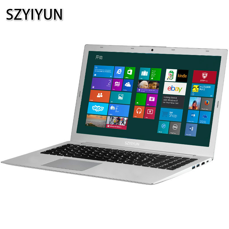 I5-8250U 8G RAM Intel Quad Core I5 Laptop Russian Backlit Keyboard Metal Netbook 15.6 Inch Gaming Notebook Portable PC Computer