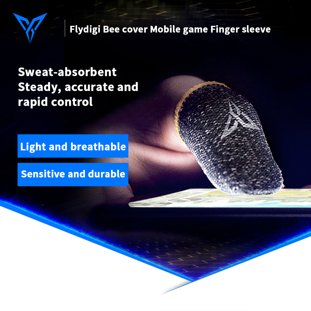 Flydigi Bee Cover Sweat-Proof Finger Cover King Glory Artifact PUBG CODM Peace Elite Game Occupation Touch Screen Thumb Gamepad(China)