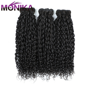 Pissy Curl Hair Remy Human Hair Bundles Nature Color Peruvian Hair Pissy Curl Bundles RUIJIA Curly Weave 1 3 4Bundles(China)
