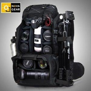Image 2 - NOVAGEAR 80302  double shoulder camera bag waterproof shockproof outdoor large capacity SLR camera bag put 17 inch laptop