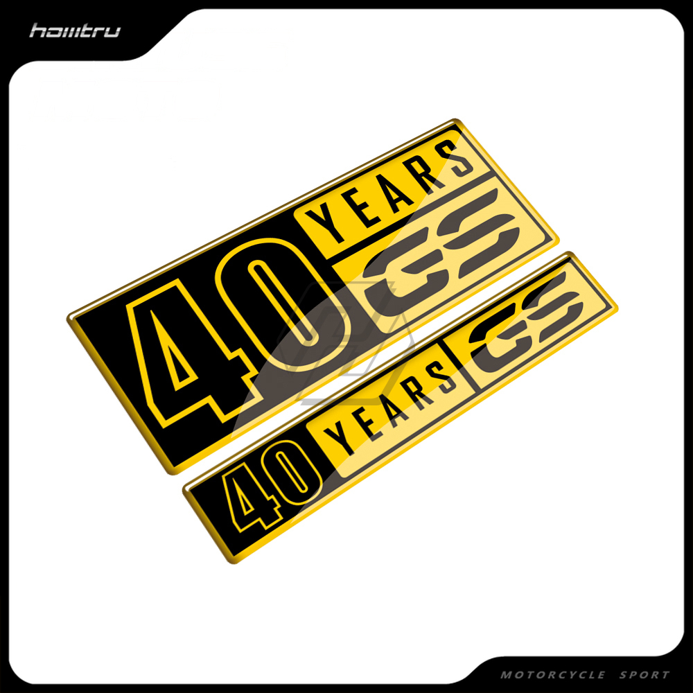 3D Resin Motorcycle Tank Pad 40 Years Sticker Case for BMW F700GS F800GS F850GS G310GS F650GS R1200GS R1250GS Decals