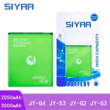 SIYAA Handy Batterie JY G4 JY S3 JY G2 JY G3 Für JIAYU G4 G4S G4T JYS3 S3 JYG2 G3 Ersatz Lithium Polymer batteria