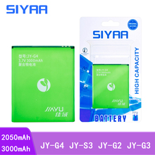 Siyaa携帯電話バッテリーJY G4 JY S3 JY G2 JY G3 jiayu G4 G4S G4T JYS3 S3 JYG2 G3交換リチウムポリマーbatteria