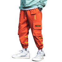 New Autumn Color Patchwork Elastic Waist Stylish Men's Joggers Trousers Fashion Casual Cargo Pants Style Streetwear Size M-3XL