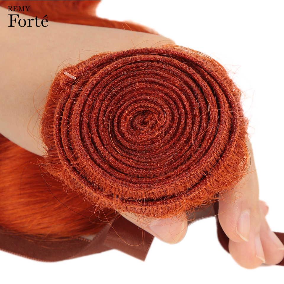 Волнистые пряди Remy Forte с закрытием, блонд, пряди с закрытием, бразильские волнистые пряди, оранжевые, 3 пряди с закрытием