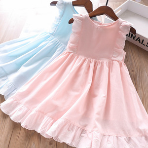 Image 1 - 2020 Spring and Summer Baby Girls Cotton Vest Dress Childrens Clothing Wholesale