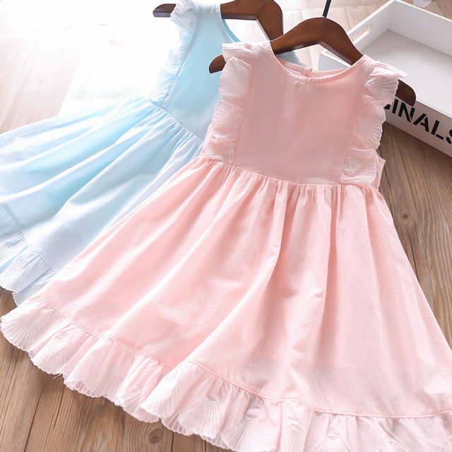 2020 Spring and Summer Baby Girls Cotton Vest Dress Childrens Clothing Wholesale