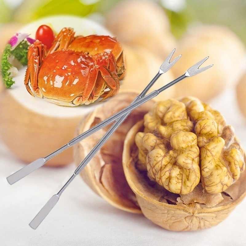 מעשי זית פירות ים סרטנים לובסטר מזלג מרים שימושי עוזר מפצח אגוזים מחט נירוסטה מזון מזלגות כלי באיכות גבוהה