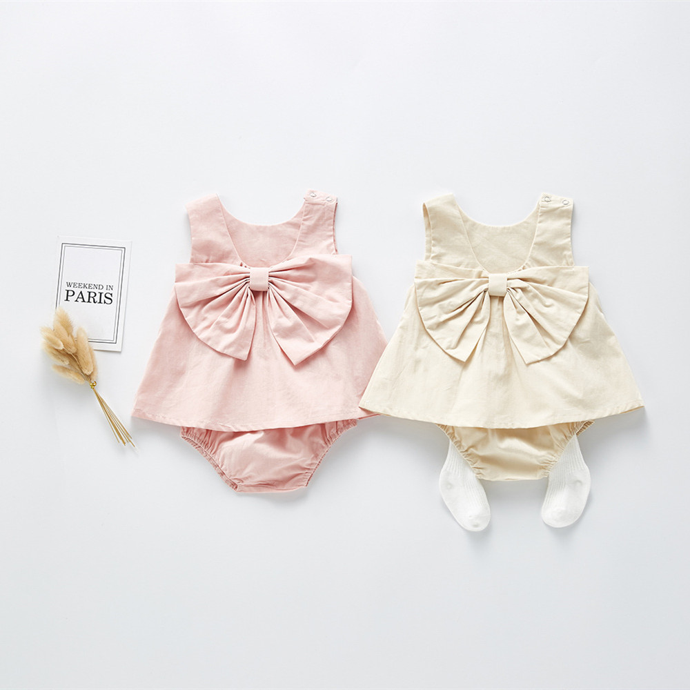 Baby Newborn Girls Clothes Set Summer Korea Baby Clothing Sets 2pcs T shirt Tops + Pants Cotton Infant Baby Girl Dress Sunsuit