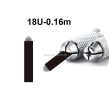 50pcs 0.16mm Lamina Tebori U Blade Microblading Needles 18U for Permanent Makeup Black Tattoo Needle Eyebrow Manual Pen
