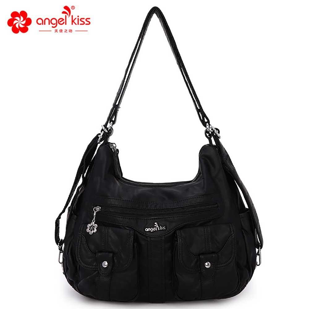 Women Shoulder Bags Angel kiss PU Leather Female Bags Ladies Crossbody Bags Luxury Designer Handbag High Quality 2020