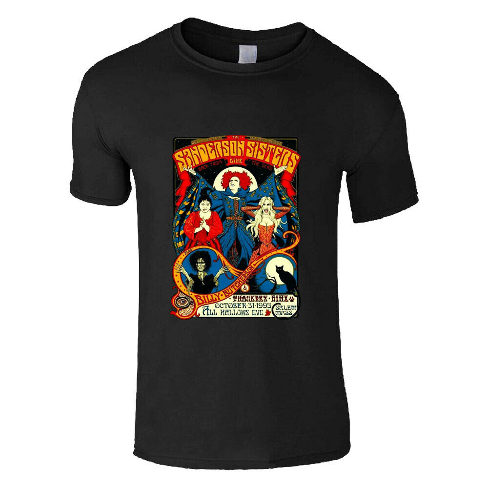 <font><b>Sanderson</b></font> <font><b>Sisters</b></font> Classic Retro <font><b>Hocus</b></font> <font><b>Pocus</b></font> Halloween Mens Half Sleeve T Shirt More Size And Colors Tee Shirt image