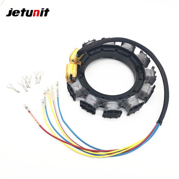 Jetunit 100%premium outboard 16 amp Stator Assy 40-125hp 2,3&4 CYLINDER 174-9710K1 398-818535A18 398-9710A28 398-9873A32 F747095 jetunit 100%premium outboard 9 amp stator assy for mercury 60 85hp 9 amp 2 3