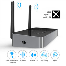 EKSA Bluetooth 5,0 Sender Empfänger APTX HD Wireless Audio Adapter Optische Toslink/3,5mm AUX/SPDIF Für TV kopfhörer Lautsprecher