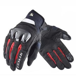 Image 4 - VEMAR Neue Atmungsaktive Motorrad handschuhe racing handschuhe Touch Screen anti herbst Motorrad outdoor Radfahren Sport Sommer Handschuhe
