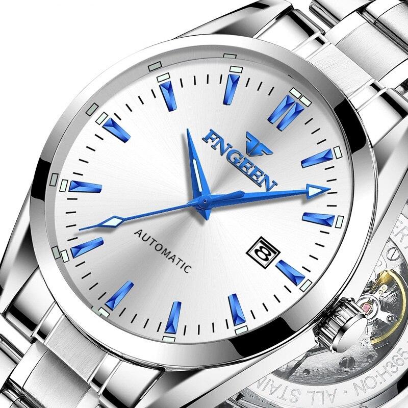 Men's Top Brand Luxury Watches Male Luminous Calendar Waterproof Man Wrist Watch Stainless Steel Automatic Mechanical Wristwatch