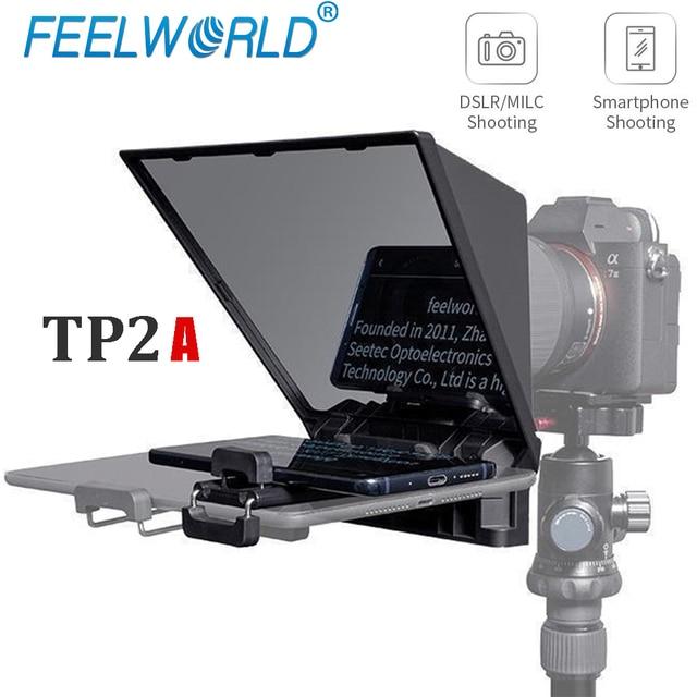 Teleprompter Feelworld 8 Polegadas com Suporte para Ipad - Mini Tablet e Smartphones - Suporta Gravação em Câmeras DSLR e Smartphone 1
