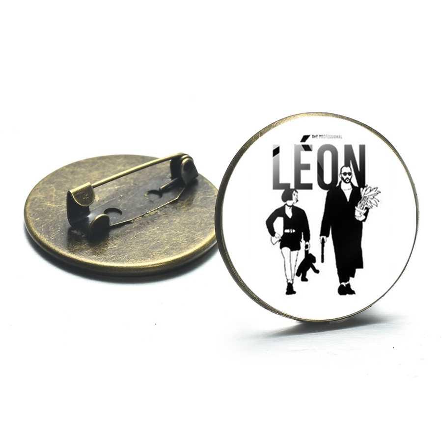 SONGDA สร้างสรรค์พิมพ์ Mathilda Leon เข็มกลัด I Want Love หรือ Death ภาพยนตร์มืออาชีพป้าย Pins เสื้อผ้าอุปกรณ์เสริม