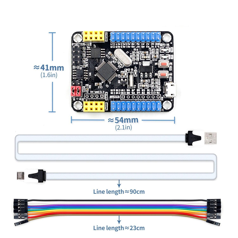 Мини-плата для разработки системы STM32F103C8T6 ARM, макетная основная плата STM32, 5 в постоянного тока, Wi-Fi, интерфейс ESP8266/NRF24L01/WS1053 W5500