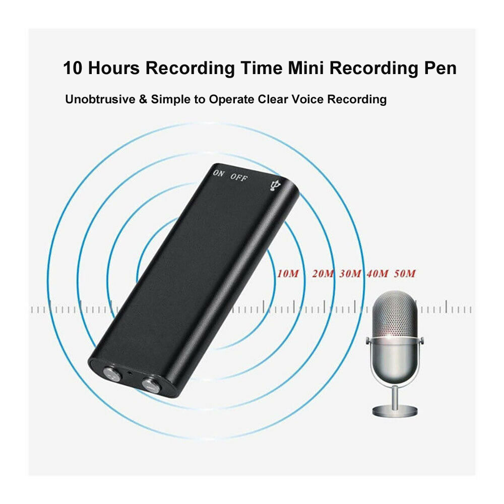 Mini Audio Recorder Voice Activated Listening Device 96 Hrs 8GB Bug Free Ship