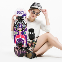 MS103 Professional Level Skateboards 7ply Maple Strong 5in Alumium Truck 95A Pu Wheel Professional Use Skateboard