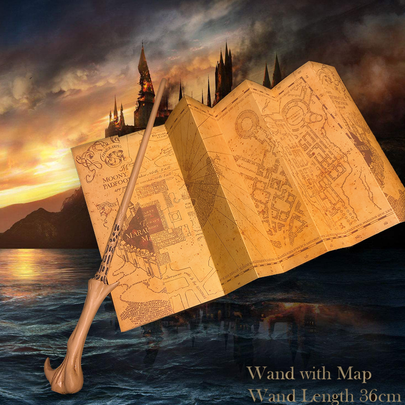 36cm Metal Core Voldmort Magic Wand With Harried Marauder's Map As Bonus Potters Movie Magic Wand No Box LordVoldmort Magic Wand