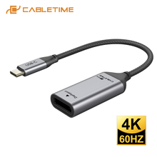 CABLETIME USB C to Displayport Adapter 4K 60Hz USB 3.1 Type C to DP Converter for Laptop PC Macbook Air Dell DP Adapter C331(China)