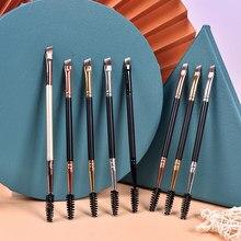 1pc Make-Up Pinsel Schönheit Foundation Augenbrauen Lidschatten Rand Eyeliner Pinsel pensule Wimpern zubehör echten Make up tools