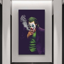 2019 Joker Joaquin Phoenix Posters Print on Canvas Comics Movie Poster Wall Art Pictures for Home Living Room Cuadros Decoration gringo movie poster posters