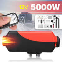 12V 5KW Air Heater Tank 2x Vent,Duct, Thermostat Motorhome Car Heater With Remote LCD Digital Display for Boat Motorhome